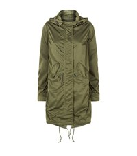 Denim And Supply Ralph Lauren Sateen Hooded Parka Female Green