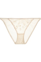 Lonely Ava Leopard Print Lace And Tulle Briefs
