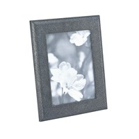 Graphic Image Leather Photo Frame Grey Shagreen 5'X7