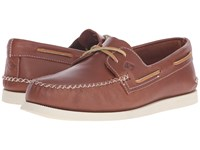 Sperry A O 2 Eye Wedge Leather Tan Men's Lace Up Casual Shoes