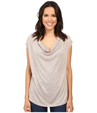 B Collection By Bobeau Sharon Cowl Neck Knit Melange Women's Clothing Silver