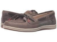 Sperry Barrelfish Taupe Women's Lace Up Moc Toe Shoes