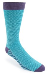 Men's Ted Baker London 'Planman' Geo Pattern Socks Blue Light Blue