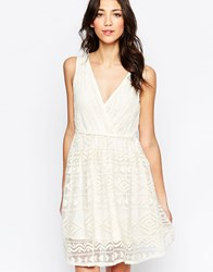Lavand V Neck Textured Skater Dress W