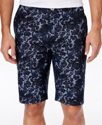 Inc International Concepts Men's Flotsam Floral Print Shorts Only At Macy's Navy