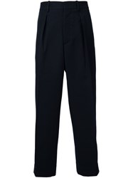 Marni Front Pleat Trousers Blue