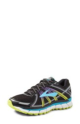 Brooks Women's Adrenaline Gts 17 Running Shoe Black Ocean Lime Purple
