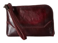 Frye Melissa Wristlet Wine Antique Pull Up Wristlet Handbags Brown