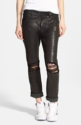 Women's Rta 'Ryder' Destroyed Lambskin Leather Jeans Black
