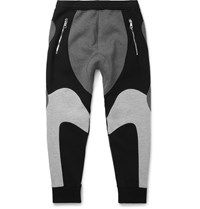 Neil Barrett Tapered Bonded Jersey Sweatpants Gray