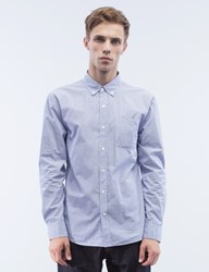 Denim By Vanquish And Fragment Broadcloth Button Down L S Shirt