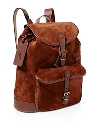 Polo Ralph Lauren Suede Backpack Brown