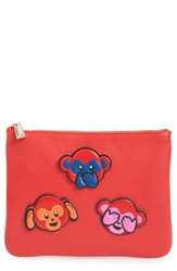 Rebecca Minkoff 'Chinese New Year' Monkey Sticker Set And Clutch