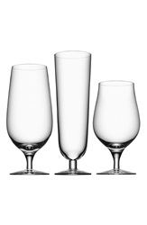 Orrefors 'Beer Collection' Glasses Set Of 3 White