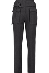 Brunello Cucinelli Stretch Cotton Twill Tapered Pants Dark Gray