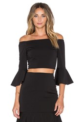 Minty Meets Munt Let It Flare Top Black