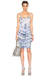 Raquel Allegra Layering Tank Dress In Ombre And Tie Dye Purple