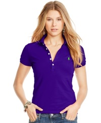 Polo Ralph Lauren Fitted Stretch Polo Chalet Purple