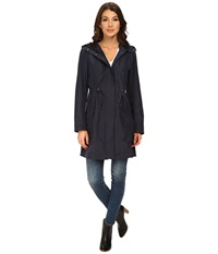Rainforest Packable Anorak W Contrast Roll Back Cuff Navy Women's Coat