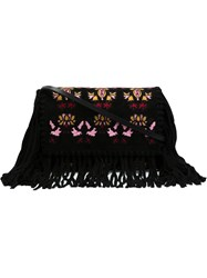Isabel Marant 'Shiloh' Embroidered Shoulder Bag Black