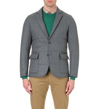 Paul Smith Quilted Wool Jacket Grey