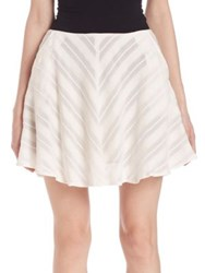 For Love And Lemons Alessandra Flared Mini Skirt White