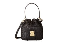 Love Moschino Heart Quilted Bucket Bag Black Handbags