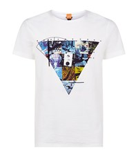 Boss Orange Teak Triangle T Shirt Male White