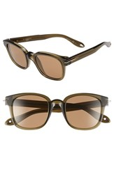 Men's Givenchy '7000 S' 50Mm Sunglasses Green