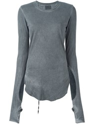 Lost And Found Ria Dunn Cut Out Detail T Shirt Grey