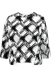 Raoul Printed Ramie And Cotton Blend Top White