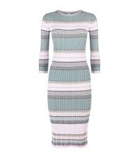 Pinko Figi Woven Zig Zag Midi Dress Female Blue