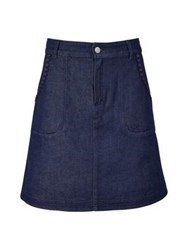 See By Chloe A Line Denim Mini Skirt Indigo