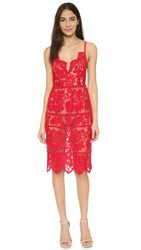 For Love And Lemons Gianna Dress Hot Red