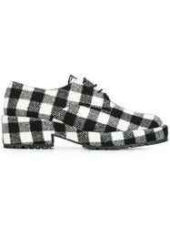 Castaner Checked Platform Lace Up Shoes White