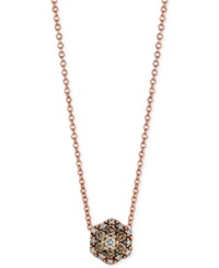 Le Vian Chocolatier Chocolate And White Diamond Accent Pendant Necklace In 14K Rose Gold