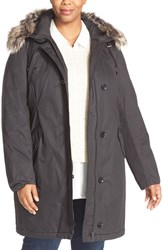 Halogenr Plus Size Women's Halogen Hooded Parka With Faux Fur Trim
