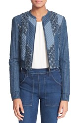 Women's Rebecca Taylor Patchwork Chambray Jacket