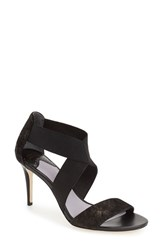 Johnston And Murphy Women's 'Felicity' Strappy Sandal Black Printed Suede