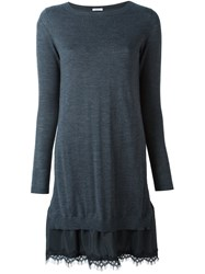 P.A.R.O.S.H. 'Lizzy' Knitted Dress Grey