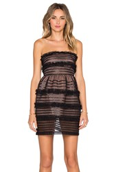 Red Valentino Strapless Tulle Party Dress Black
