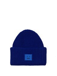Acne Studios Pansy Wool Beanie Hat Blue