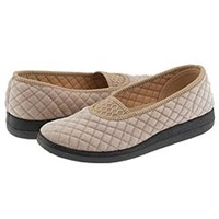 Foamtreads Waltz Mink Velour Women's Slippers Beige