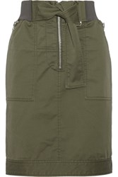 3.1 Phillip Lim Cotton Blend Twill Skirt Army Green
