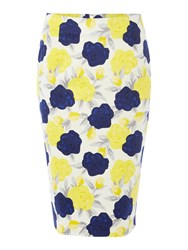 Dickins And Jones Floral Print Pencil Skirt Multi Coloured