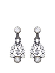 Bottega Veneta Cubic Zirconia And Silver Drop Earrings