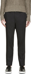Tiger Of Sweden Dark Grey Wool Herris Trousers