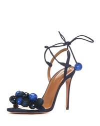 Aquazzura Disco Thing Sequin Embellished Sandal Ink