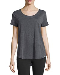 Marc New York Marc Ny Performance Short Sleeve High Low Top Smoke Grey