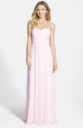 Faviana Colorblock Chiffon Gown Ice Pink